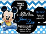 Baby Mickey Mouse Baby Shower Invitations 17 Best Images About Baby Shower Mickey On Pinterest