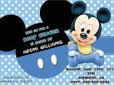 Baby Mickey Mouse Baby Shower Invitations Baby Mickey Mouse Baby Shower Invitation