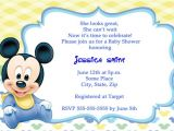 Baby Mickey Mouse Baby Shower Invitations Mickey Mouse Baby Shower Invitations Cartes De Remerciements