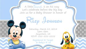 Baby Mickey Shower Invitations Baby Mickey Mouse Baby Shower Invitations
