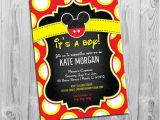 Baby Mickey Shower Invitations Mickey Mouse Baby Shower Invitations Boy Baby Shower