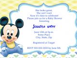 Baby Mickey Shower Invitations Mickey Mouse Baby Shower Invitations Thank You Cards
