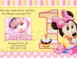 Baby Minnie Mouse First Birthday Invitations Baby Minnie 1st Birthday Invitations