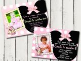 Baby Minnie Mouse First Birthday Invitations Baby Minnie Mouse 1st Birthday Party by Tamiraycardsandprint