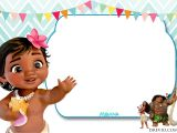 Baby Moana Birthday Invitation Template Free Moana Baby Shower Invitation Template