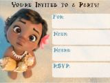 Baby Moana Birthday Invitation Template Free Printable Moana Invitation for Girl – Baby Shower and