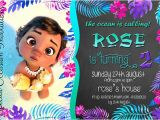 Baby Moana Birthday Invitation Template Items Similar to Disney Baby Moana Birthday Invitation 4