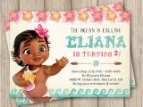 Baby Moana Birthday Invitation Template Moana Birthday Invitation Baby Moana Invitation Baby