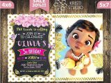 Baby Moana Birthday Invitation Template Moana Invitation Moana Baby Invitation Moana Girl Birthday