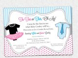 Baby Reveal Party Invitation Templates Gender Reveal Party Invitations Template Best Template