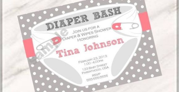 Baby Shower and Diaper Party Invitation Wording Diaper Party Invitation Wording
