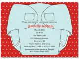 Baby Shower and Diaper Party Invitation Wording Funny Diaper Party Invitation with Red Polka Dot