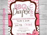 Baby Shower and Diaper Party Invitations Bbq and Diaper Party Invitation Baby Shower by Cheeriozdezigns