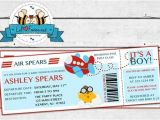 Baby Shower Boarding Pass Invitations Airplane Aviator Baby Shower Invitation Boarding Pass