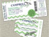 Baby Shower Boarding Pass Invitations Baby Shower Boarding Pass Invitation Casen Campbell On