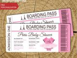 Baby Shower Boarding Pass Invitations Passport Birthday Invitation Template