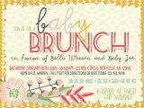 Baby Shower Brunch Invitation Wording Brunch Baby Shower Invitations