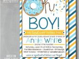 Baby Shower Brunch Invitation Wording Oh Boy Donut Doughnut Breakfast Brunch Baby by