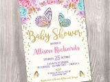 Baby Shower butterfly theme Invitations butterfly Baby Shower Invitation butterfly Invitation