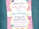Baby Shower butterfly theme Invitations butterfly Baby Shower Invitation Image