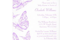 "Baby Shower butterfly theme Invitations Pretty Purple butterfly Baby Shower Invitations 5"" X 7"