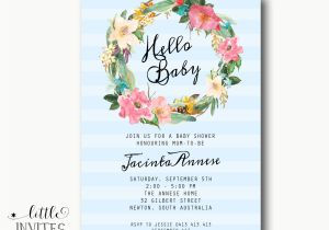 Baby Shower High Tea Invitation Wording Baby Shower Invitation Shabby Chic High Tea