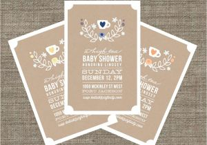 Baby Shower High Tea Invitation Wording High Tea Baby Shower Invitation Tea Party Invite for Baby