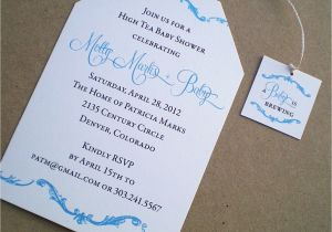 Baby Shower High Tea Invitation Wording Kitchen & Dining