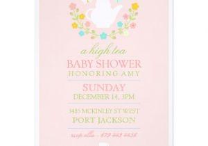 Baby Shower High Tea Invitation Wording Pink High Tea Baby Shower Invitation