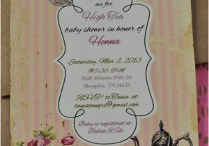 Baby Shower High Tea Invitation Wording Turtlecraftygirl High Tea Baby Shower Invitations