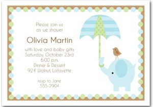 Baby Shower Images for Invitations Elephant Umbrella Boy Baby Shower Invitations Boy Baby