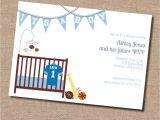 Baby Shower Invitation Acceptance theme Sports themed Baby Shower Invitation Acceptance