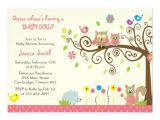 Baby Shower Invitation Cards for Girls Cute Pink Owl Girl Baby Shower Invitations Personalized