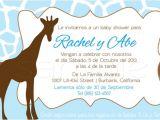Baby Shower Invitation In Spanish Items Similar to Spanish Giraffe Baby Shower Invitations