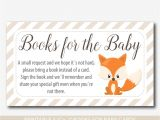 Baby Shower Invitation Inserts Bring Book Woodland Bring A Book Instead Of A Card Inserts Fox Baby