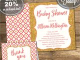 Baby Shower Invitation Packages Baby Shower Package Invitation Thank You Card Baby Girl