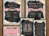 Baby Shower Invitation Packages Babyq Baby Shower Invitation Package Rustic by