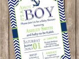 Baby Shower Invitation Packages Boy Nautical Baby Shower Invitation Package Chevron Baby