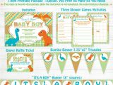 Baby Shower Invitation Packages Dinosaur Baby Shower Invitation Package Games Diaper Raffle
