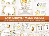 Baby Shower Invitation Packages Woodland Animals Baby Shower Package Party Printables