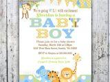 Baby Shower Invitation Postcards Jungle themed Baby Shower Invitations Jungle themed Baby