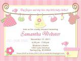 Baby Shower Invitation Samples Free Birthday Invitations Baby Shower Invitations