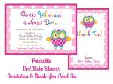 Baby Shower Invitation Templates Printable Thank You Card Printable Templates