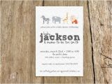 Baby Shower Invitation with Baby Name Zoo Animals Modern Baby Shower Invitation Boy or Girl