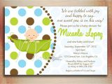 Baby Shower Invitation with Picture Pea In A Pod Baby Shower Invitation Baby In A Pod by