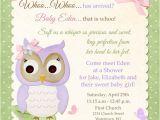 Baby Shower Invitation Wording for Early Arrival butterfly Owl Christening Invitation Baby Girl Bir