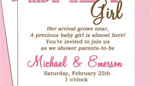 Baby Shower Invitation Wording for Girls Baby Shower Invitation Wording Lifestyle9