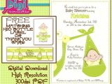 Baby Shower Invitation Wording Ideas for Unknown Gender Baby Shower Invitation Gender Unknown Digital Download Diy