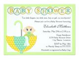 Baby Shower Invitation Wording Ideas for Unknown Gender Gender Unknown Umbrella Baby Shower Invitation