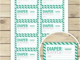 Baby Shower Invitations and Diaper Raffle Tickets Green Baby Shower Diaper Raffle Tickets Printable Instant